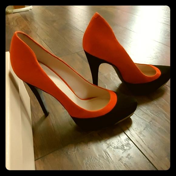 Reincolla urto incinta  BCBGeneration Shoes | Black And Burnt Orange Suede Heel | Poshmark